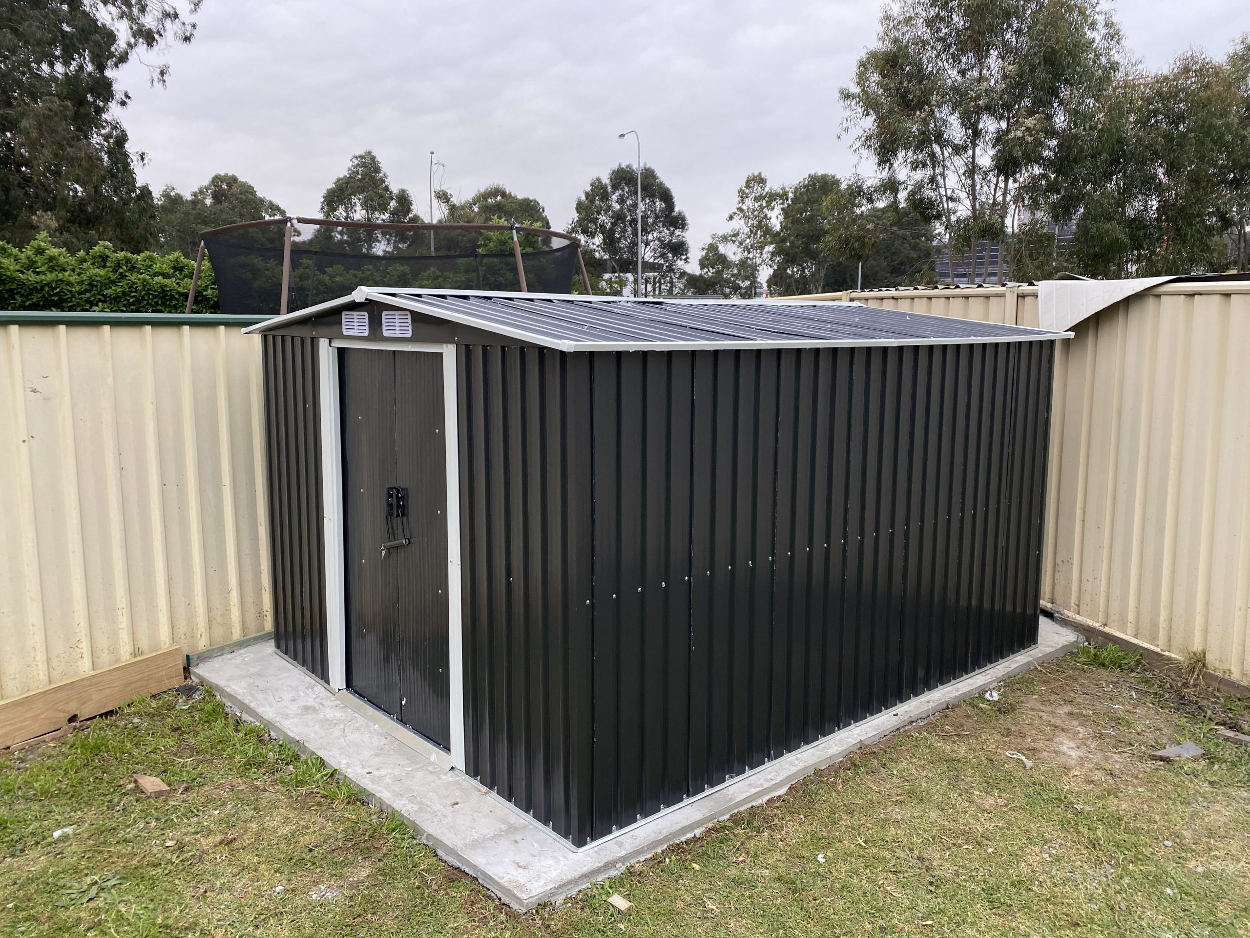 Concrete Slab Shed